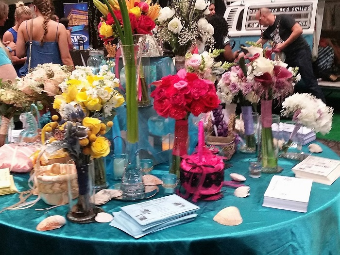 A Florist Booth at the Bridal Expo